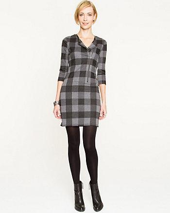 Check Print Double Knit Dress