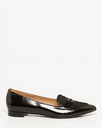 Leather Croco Embossed Loafer