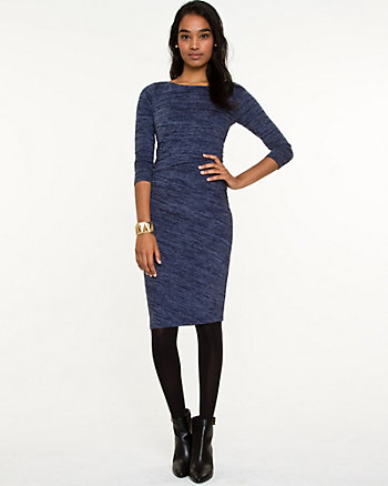 Jersey Boat Neck Midi Dress