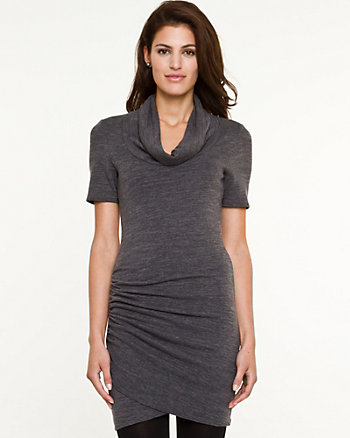 Cut & Sew Cowl Neck Tunic