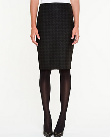 Houndstooth High Waist Pencil Skirt