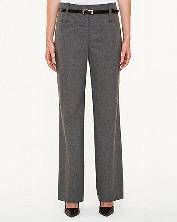Wool Blend Flannel Flare Leg Pant
