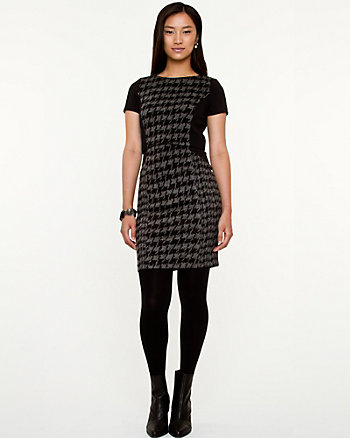Houndstooth Knit Dress