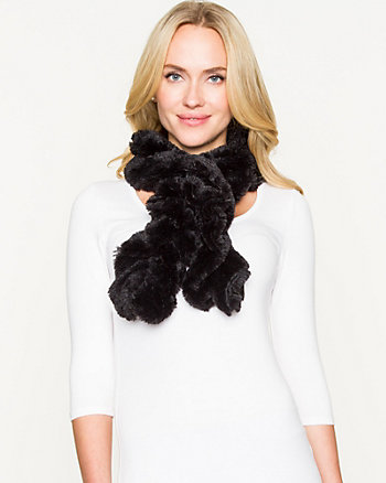 Faux Fur Circle Scarf