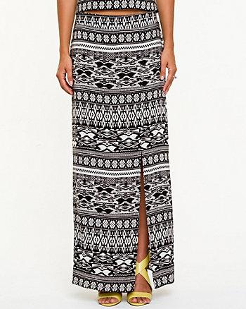 Printed Challis Maxi Skirt