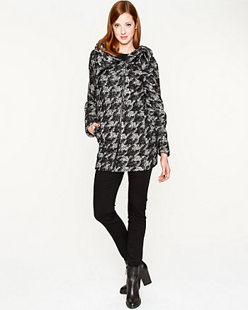 Wool Blend Asymmetric Cocoon Coat