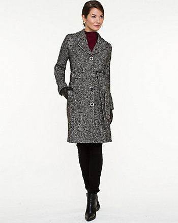 Tweed Notch Collar Coat