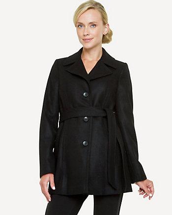 Melton Belted Coat