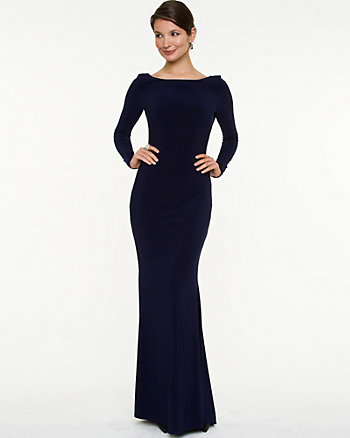 Knit Backless Gown