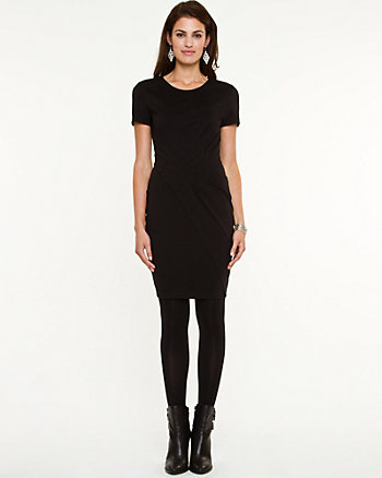 Ponte Asymmetrical Dress