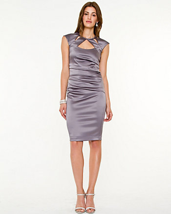 Matte Satin Cutout Dress