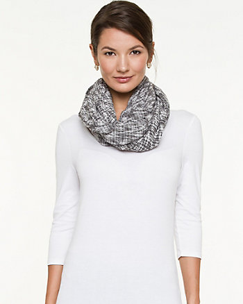 Cotton Mélange Infinity Scarf