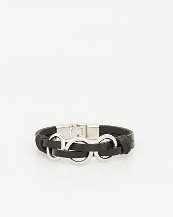 Metal & Leather Bracelet