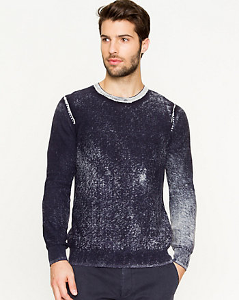 Cotton Faded Pattern Sweater