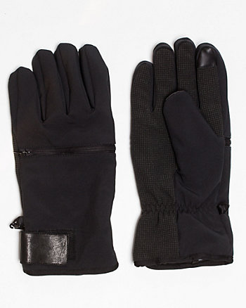 Faux Leather Glove