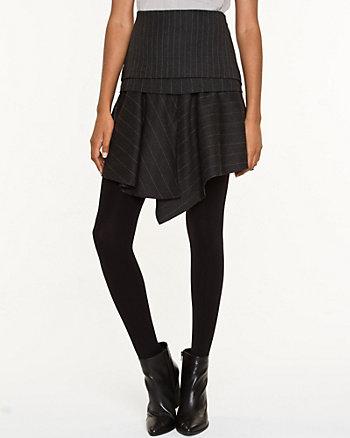 Wool Blend Pinstripe Skirt
