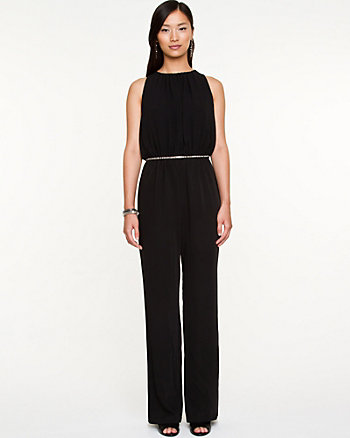 Crêpe de Chine Wide Leg Jumpsuit