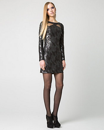 Glitter Lace Cutout Tunic