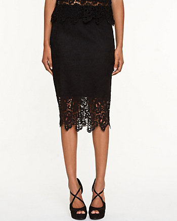 Lace Pull-on Pencil Skirt