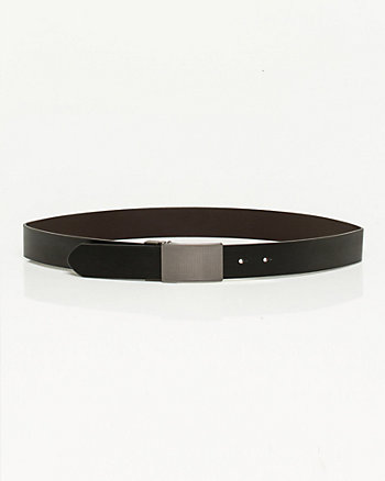 Reversible Bonded Leather Belt
