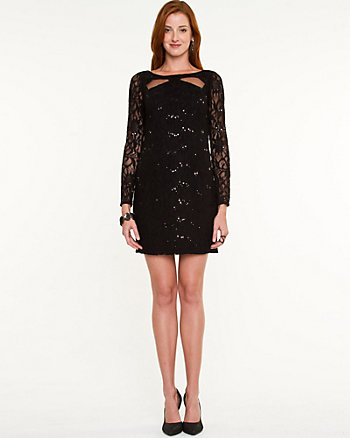Lace Cutout Cocktail Dress