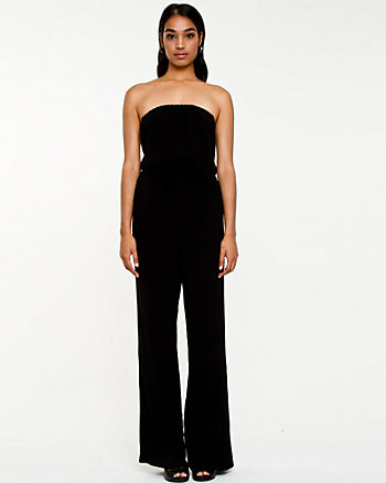 Stretch Crêpe Flared Leg Jumpsuit