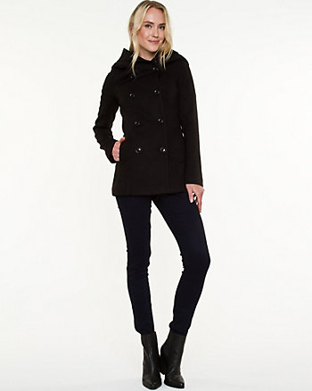 Double Knit Hooded Coat