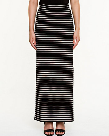 Stripe Knit Maxi Skirt
