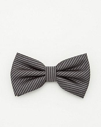 Tonal Stripe Bow Tie