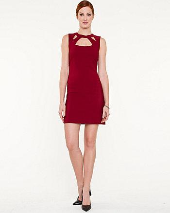 Satin Cutout Mini Dress