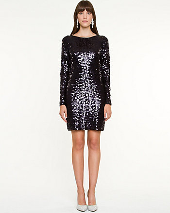 Sequin Jersey Mini Dress