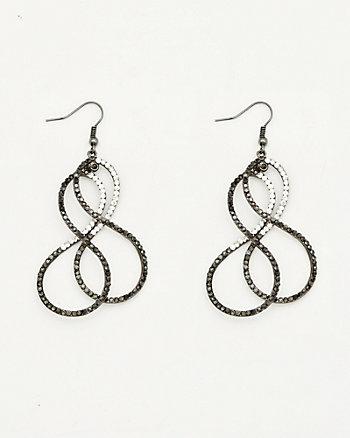 Gemmed Double Infinity Earrings