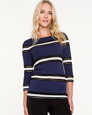 Stripe Jersey Knit Top