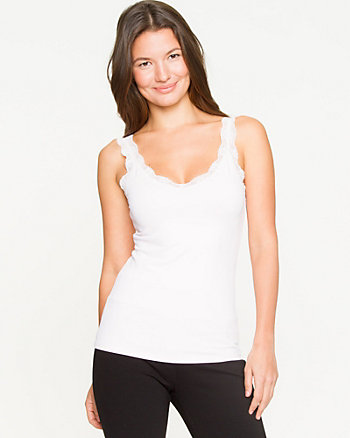 Lace Trim Knit Tank