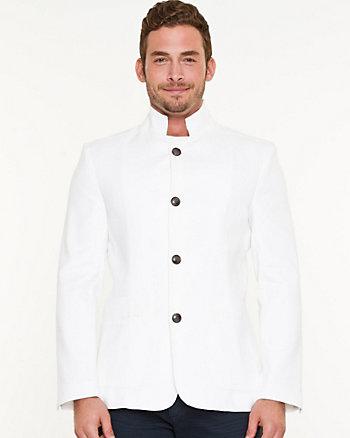 Ponte Mandarin Collar Blazer