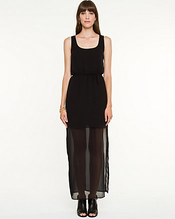 Crêpe & Chiffon Maxi Dress