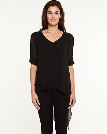 Chiffon High-Low Tunic