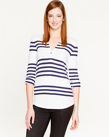 Stripe Slub Jersey Top