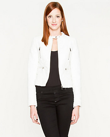 Leather-Like Moto Jacket