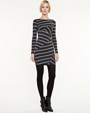 Multi-stripe Rayon Jersey Dress
