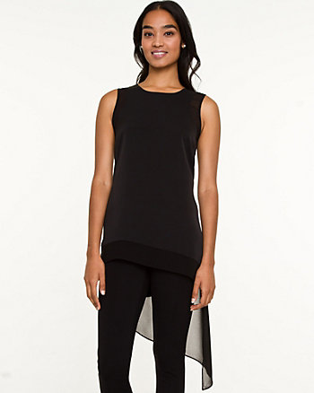 Twill Asymmetrical Tunic