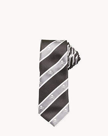 Stripe & Skull Tie