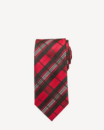 Plaid Microfibre Tie