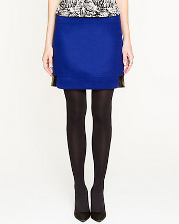 Faux Melton Mini Skirt