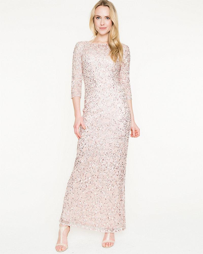 Sequin Long Sleeve Gown | LE CHÂTEAU