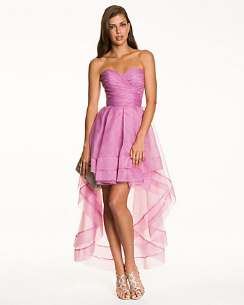Organza Sweetheart High-Low Gown