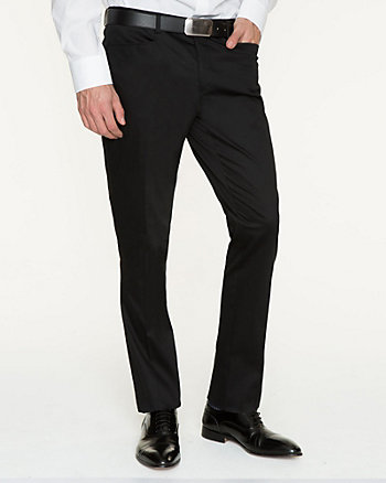 Cotton Sateen Slim Fit Pant