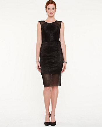 Sparkle Knit Illusion Hem Dress