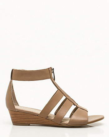 Leather Gladiator Wedge