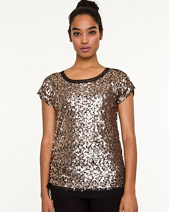 Sequin Ruched Top